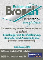 Stellenanzeige Brosch-Estrichbau